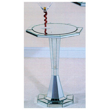 Trenton Round Pedastal End Table