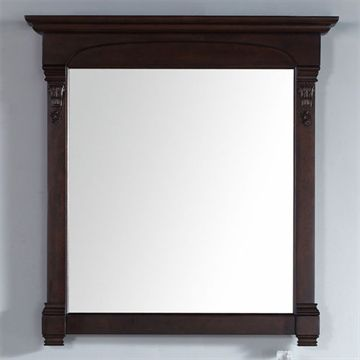 James Martin Brookfield 39 1/2 Inch Burnished Mahogany Mirror
