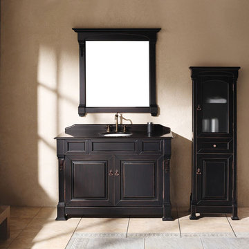 James Martin Brookfield 48 Inch Antique Black Vanity Cabinet Only