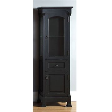 James Martin Brookfield Antique Black Linen Cabinet
