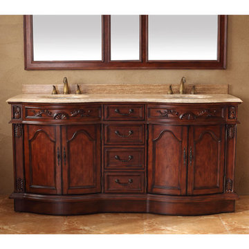 James Martin Classico 72 Inch Cherry Double Vanity