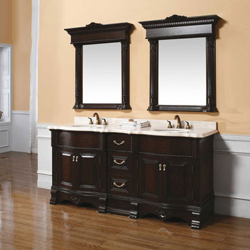 James Martin Classico 72 Inch Crest Double Bathroom Vanity