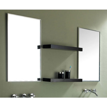 James Martin Contempo 19 1/2 Inch Espresso Mirror With Shelves