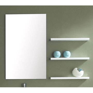 James Martin Contempo 25 1/2 Inch Espresso Mirror With Shelves