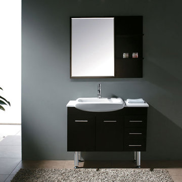 James Martin Contempo 38 3/4 Inch Espresso Single Sink Vanity With Legs