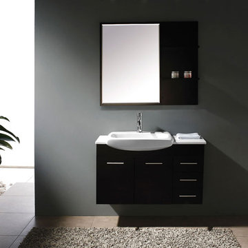 James Martin Contempo 38 3/4 Inch Espresso Single Sink Vanity