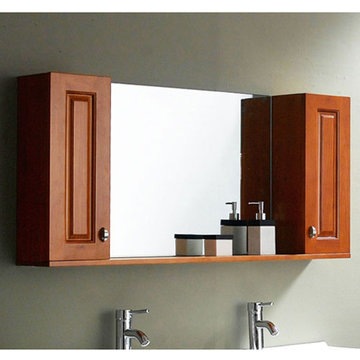 James Martin Contempo 45 Inch Maple Mirror With Side Cabinet