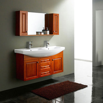 James Martin Contempo 47 1/4 Inch Maple Double Sink Vanity