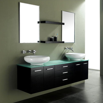 James Martin Contempo 58 Inch Espresso Double Sink Vanity