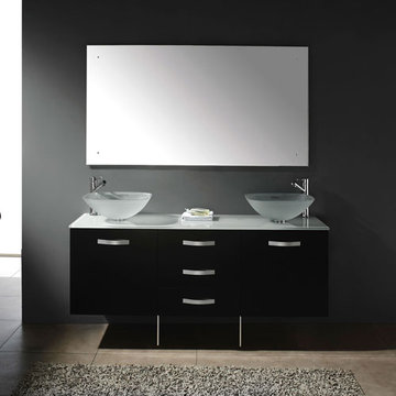 James Martin Contempo 63 Inch Espresso Double Vanity