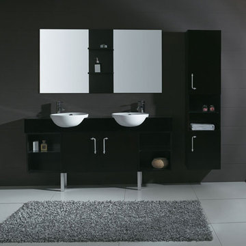 James Martin Contempo 67 Inch Espresso Double Sink Vanity With Legs