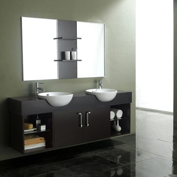 James Martin Contempo 67 Inch Espresso Double Sink Vanity