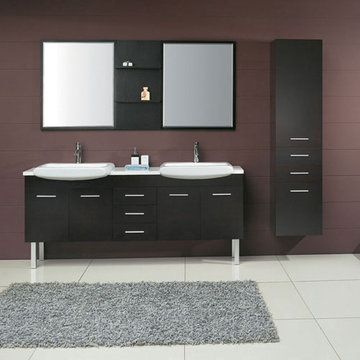 James Martin Contempo 71 Inch Espresso Double Sink Vanity With Legs