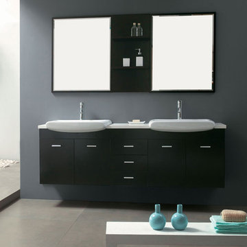 James Martin Contempo 71 Inch Espresso Double Sink Vanity