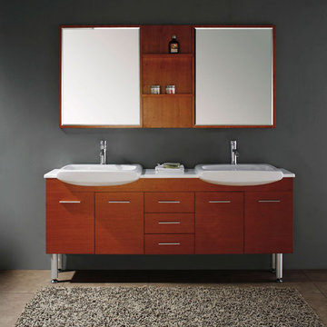 James Martin Contempo 71 Inch Maple Double Sink Vanity With Legs