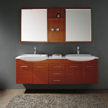 James Martin Contempo 71 Inch Maple Double Sink Vanity