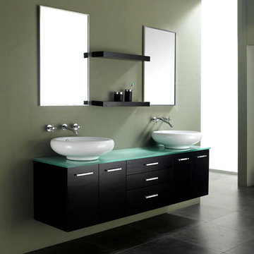 James Martin Contempo 72 Inch Espresso Double Sink Vanity