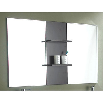 James Martin Contempo Espresso Mirror With Shelves