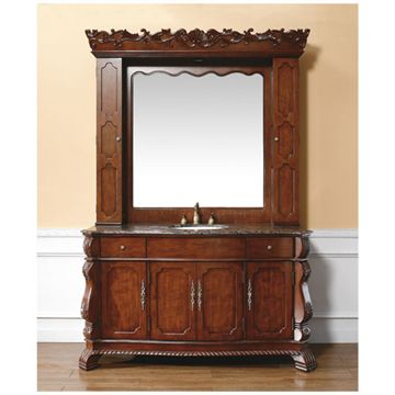 James Martin Hampshire 60 Inch Faline Bathroom Vanity And Hutch Mirror