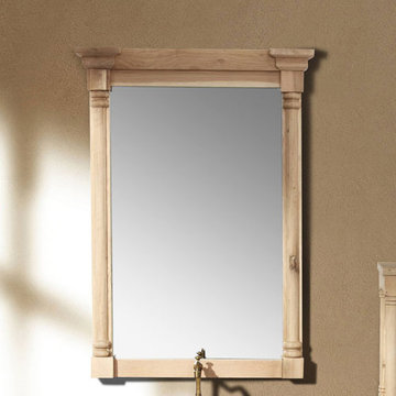James Martin Providence 31 Inch Natural Oak Mirror