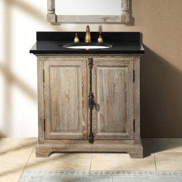 James Martin Providence 35 1/2 Inch Driftwood Single Vanity Cabinet Only