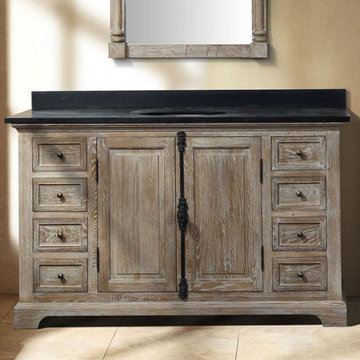 James Martin Providence 56 Inch Driftwood Single Vanity Cabinet Only