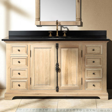 James Martin Providence 56 Inch Natural Oak Single Vanity Cabinet Only