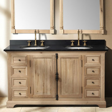 James Martin Providence 59 1/4 Inch Natural Oak Double Vanity Cabinet Only