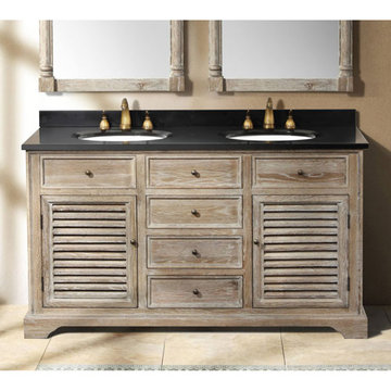 James Martin Savannah 59 1/4 Inch Driftwood Double Vanity Cabinet Only
