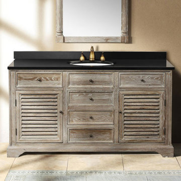James Martin Savannah 59 1/4 Inch Driftwood Vanity Cabinet Only