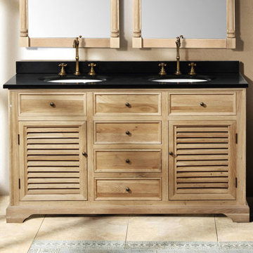 James Martin Savannah 59 1/4 Inch Natural Oak Double Vanity Cabinet Only