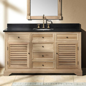 James Martin Savannah 59 1/4 Inch Natural Oak Vanity Cabinet Only