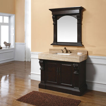 James Martin Toscano 42 Inch Tama Bathroom Vanity With Travertine Top