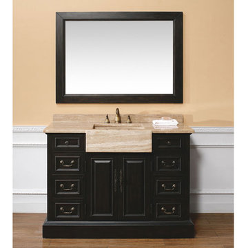 James Martin Toscano 48 Inch Malana Bathroom Vanity With Travertine Top