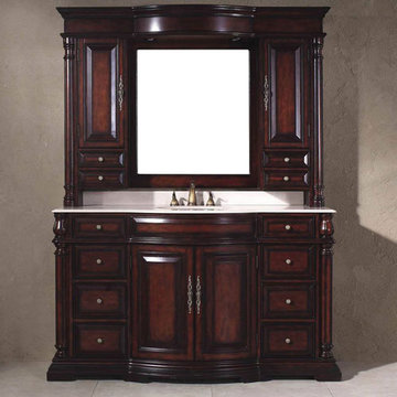 James Martin Upton 60 Inch Egwene Single Bathroom Vanity With Sink And Mirror