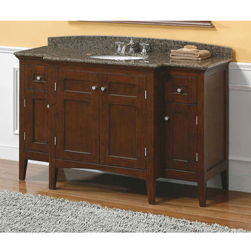 James Martin Urban 53 1/4 Inch Brown Mahogany Single Vanity Cabinet Only