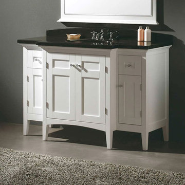 James Martin Urban 53 1/4 Inch White Single Vanity Cabinet Only