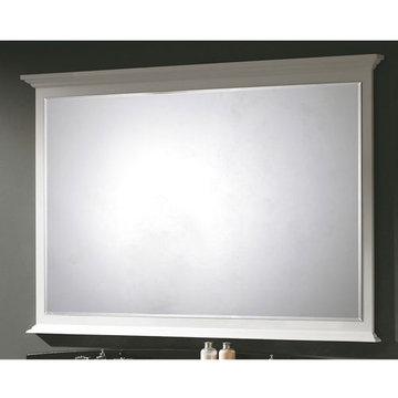 James Martin Urban 59 Inch White Mirror