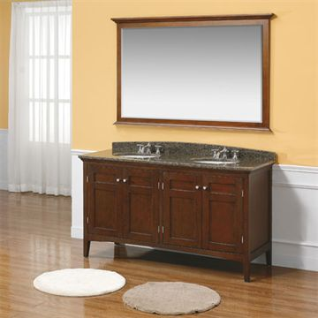 James Martin Urban 60 Inch Brown Mahogany Double Cabinet Vanity