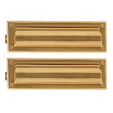 Brass Accents Letter Mail Slot With Double Flap