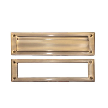 Brass Accents Letter Mail Slot With Exterior Flap