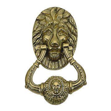 Lion 6 1/4 Inch Door Knocker
