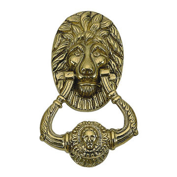 Brass Accents Lion 7 1/2 Inch Door Knocker