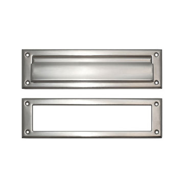 Brass Accents Magazine Mail Slot with Exterior Flap