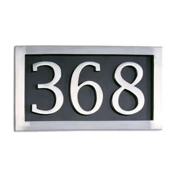 Brass Accents Three Digit Address Marker Plaque