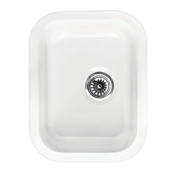 14 Inch Rectangle Drop In Or Undermount Fireclay Bar Prep Sink
