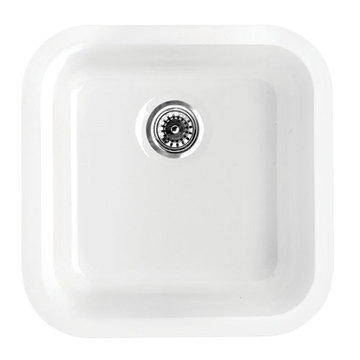 18 Inch Square Drop In Or Undermount Fireclay Kitchen Sink