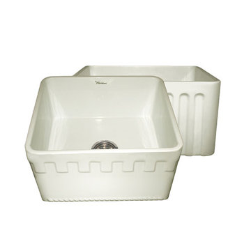 20 Inch Reversible Fluted Or Dentil Fireclay Kitchen Sink