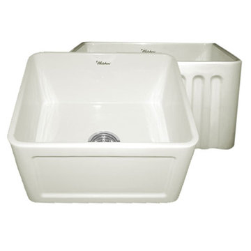 20 Inch Reversible Fluted Or Inset Panel Fireclay Kitchen Sink