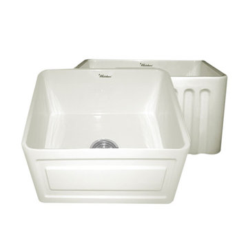 20 Inch Reversible Fluted Or Raised Panel Fireclay Kitchen Sink